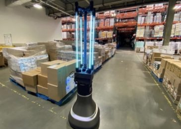 Autonomous robot utilizes 'UVC light' to clean warehouses